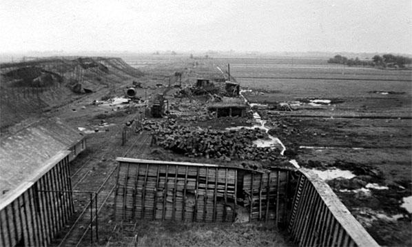 Mawag, Blick nach Osten, 1944